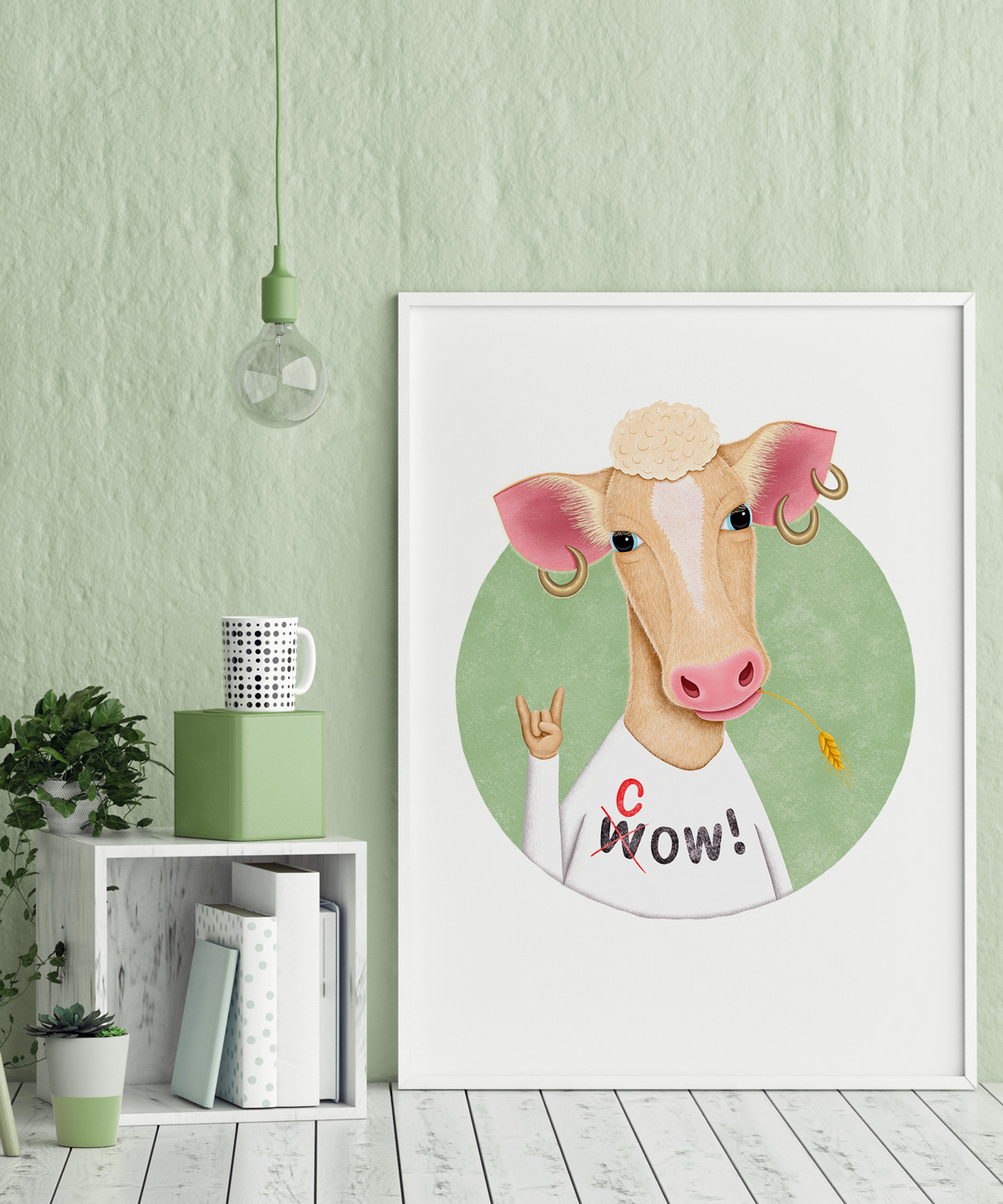 Wow-Cow-Art-Print-DrawingEggen