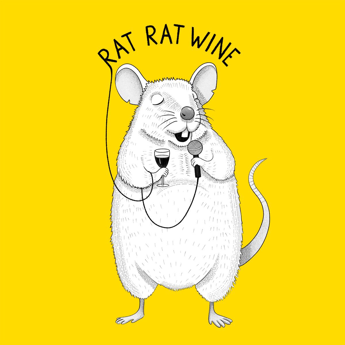 Rat singing UB40 animal karaoke illustration by drawingeggen