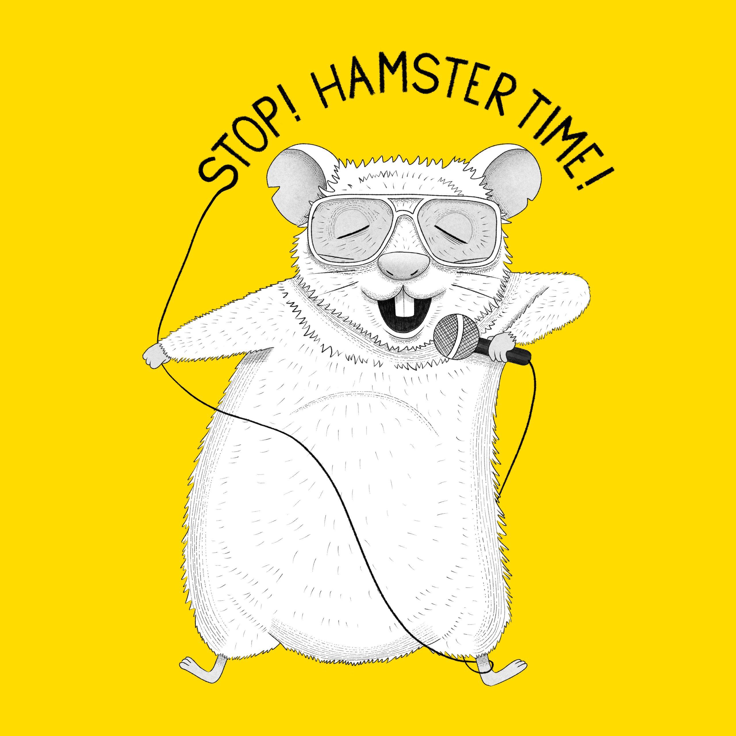 Hamster singing MC Hammer Animal Karaoke illustration by drawingeggen